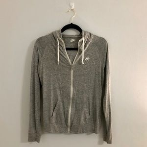 Gray full-zip Nike sweatshirt!